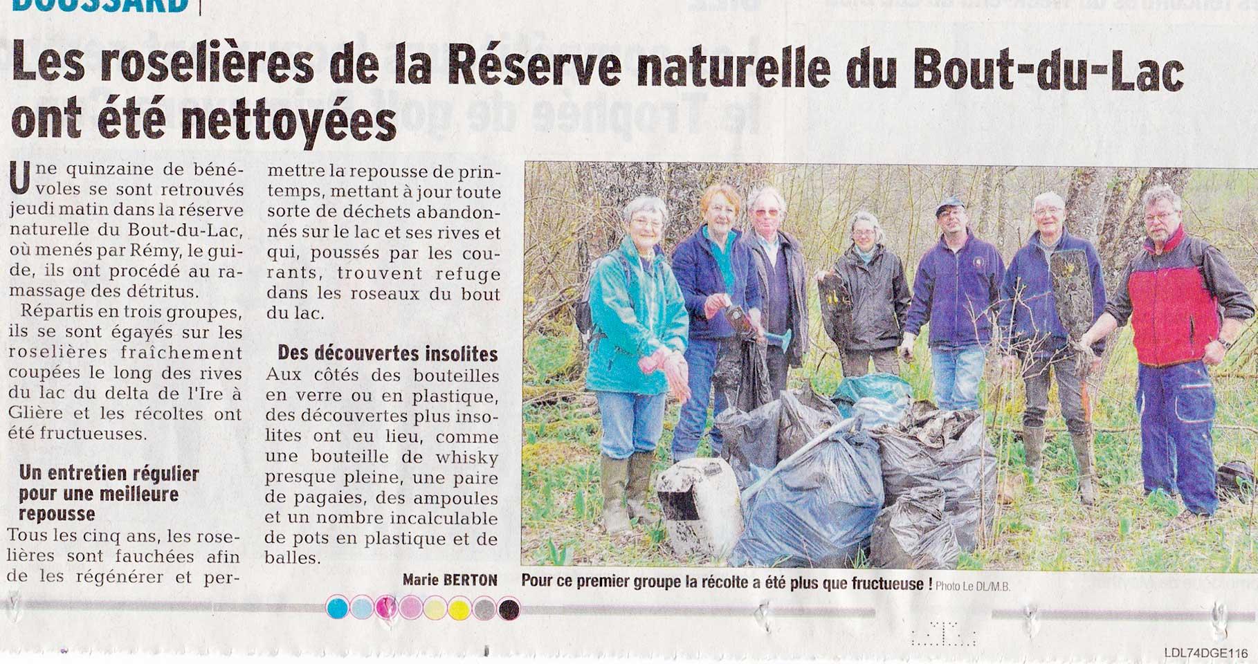 Article paru dans le Dauphiné Libéré du 07/04/2016