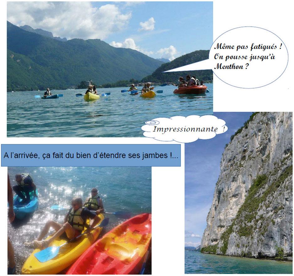Sortie kayak au Roc de Chère