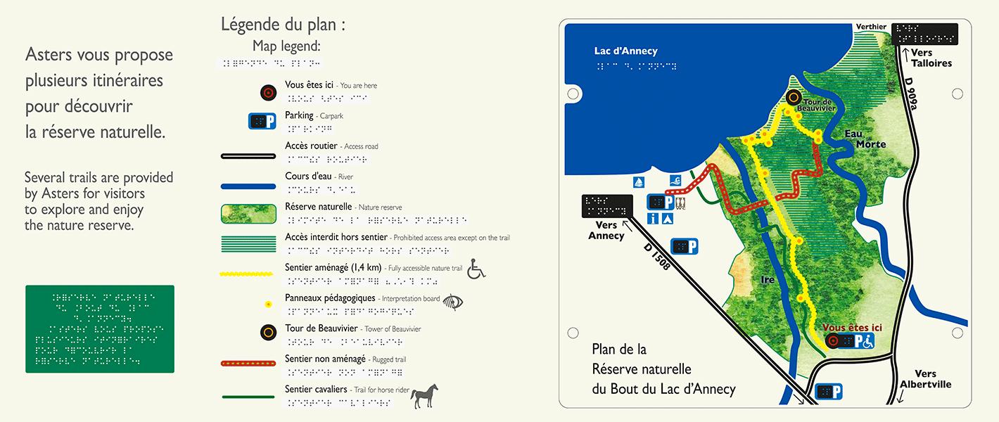 Plan d'accès Réserve Bout du Lac (Polymorphe design)